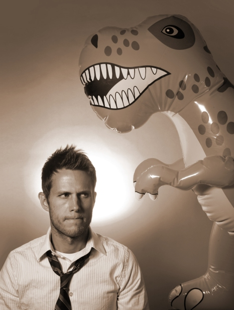 Matthew Inman with dinosaur